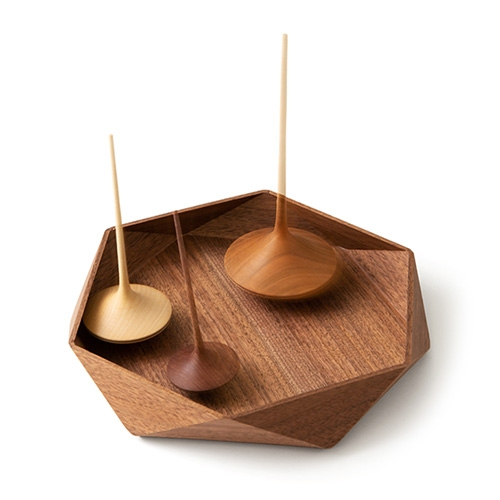 Beautiful Geometric Wooden Tray from Art of Play. Designed by Kenichi Mizushima in Fukui, Japan. (Also, they have great spinning tops - so many that are part of our NOTCOT collection!)