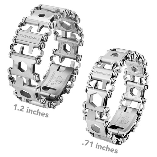 Leatherman Tread LT - a new slimmer version of the multi-tool wearable bracelet! Available in stainless steel and black.