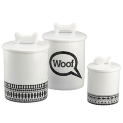 Cute treat jars for your dogs and cats from Crate and Barrel