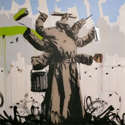 Love this multi tasking trench coater ~ from Nick Walker at the Nuart Festival