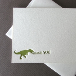 How cute are these T-rex thank you notes from Pocket Creative?