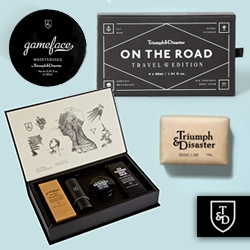 Triumph & Disaster: lovely branding from this New Zealand Men's Grooming brand.