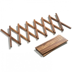 Side by Side's Concertina Wood Trivet - i was playing with these in person, and they are some of the simplest tiniest looking trivets... incredibly affordable too!