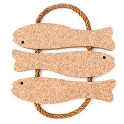Huset 3 Fish Cork Trivet