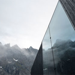 Trollwall restaurant by Reiulf Ramstad Architects in Trollveggen, Møre og Romsdal, Norway.