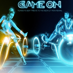 Playboy does Tron - Game On: Playboy's Sexy Tribute to the Neon-Lit Tron Revival