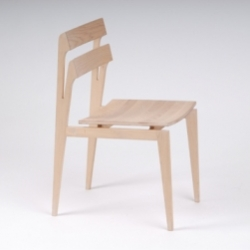 TRØKK16 are turning heads left and right at this year's Milan Furniture Fair with an elegantly engineered line of prototypes including the graceful Frøy Chair - a modern update on the side chair making use of natural materials.