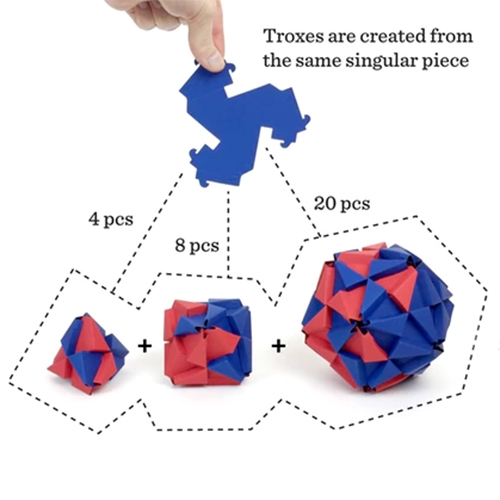"TROXES! Jonathan Bobrow's origami building blocks are now on kickstarter. ""Troxes are triangular, interlocking building blocks. One shape, infinite possibilities."""
