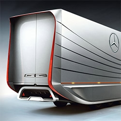 Mercedes-Benz Aero Trailer Truck ~ nice design study on the aerodynamicly streamlined rear