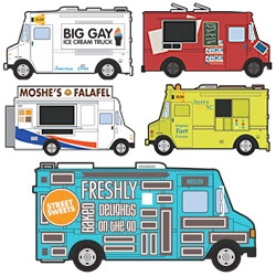 NY Mag has adorable illustrations of their top 25 NY Food Trucks