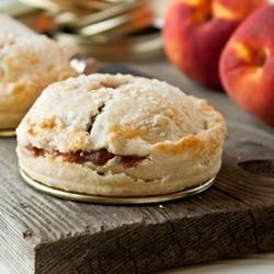 Mason Jar Lid Peach Pies