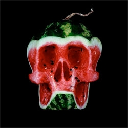 Fruit skulls by Dimitri Tsykalov.