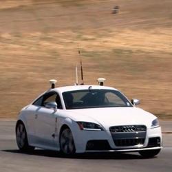 Stanford's autonomous racecar is a Audi TTS named Shelley and can go 120mph on California's Thunderhill Raceway.