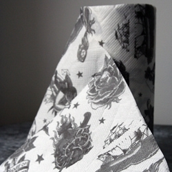 "Rockett St George introduces the ""Traditional Tattoo Kitchen Roll"" for when a plain white roll just won't do."