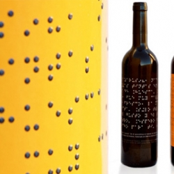 The bottle of Lazarus Wine use a packaging specially made for the blind!