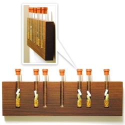 Woody Test Tube Pill Organizer! Pretty enough to leave out and remind you of your daily needs...