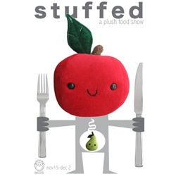 I wish I'd noticed this sooner. Tonight was the opening of  STUFFED, the Plushed Food show at Munky King in LA.