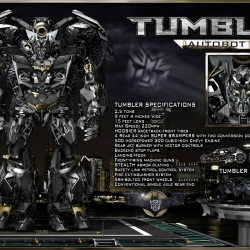 Batman's tumbler as an autobot!