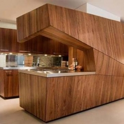This amazing piece of design by Graft of Berlin is stunningly beautiful.  The clean, simple lines and striking angles give it a futuristic look, yet the walnut panelling juxtaposes a more classic style.