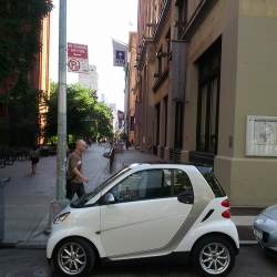 """Park my Smart - """"I own a smart car and park on NYC streets everyday as a challenge. Each spot is photographed."""""""