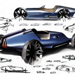 Vehicle Design Lab shows progress from initial ideas to what will be a graduation exhibition this June. RCA vehicle design course is over 40 years old, and this is the first year the public is invited to track the progress of students.