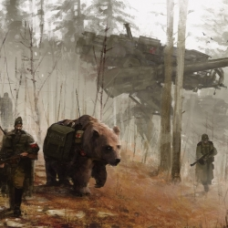 Jaw dropping series of artwork from artist Jakub Rozalski. The dystopian future, in a mesmerizing way.