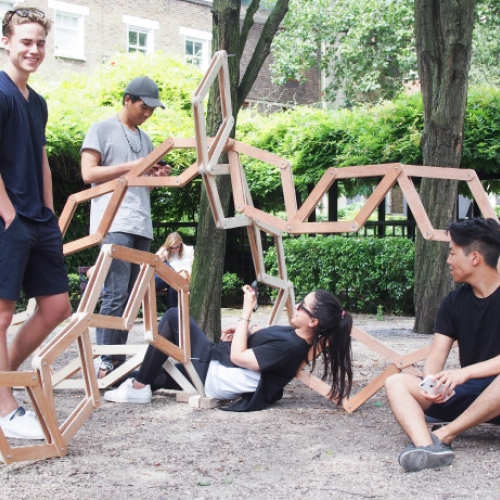 AA Summer School students developed series of site-specific memory devices addressing notion of time in London and its current urban context. Each device responds either mechanically or electronically to its users by creating unforeseen spatial conditions.