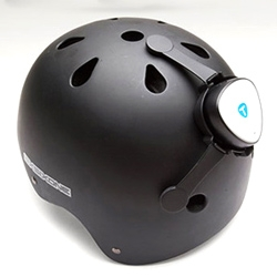 The Tunebug Shake turns your helmet into a portable stound system. Water resistant and with touch-sensitive controls and Bluetooth wireless compatibility, it's much safer than trying to use your headphones.