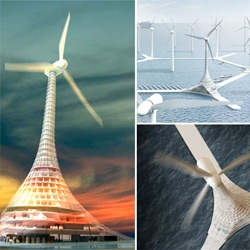 """Turbine City! Norway! Can you imagine living/playing in these """"buildings"""" floating off the coast in a possible future?"""