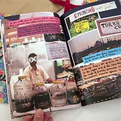 Emel Loves Istanbul (& Paris!) ~ Artist, Emel Kurhan's adorable city guides read like a scrapbook of insider favorites to discover... beautiful limited edition by Jotun.