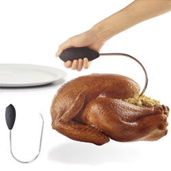 OXO Poultry Lifter - a much easier solution to moving a hot, heavy bird out of the pot or oven.
