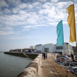 A seaside shot of the new Turner Contemporary Museum in Margate, England, which opened the weekend of 4/15-4/17.