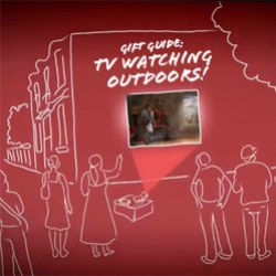 Gift Guide ~ exploring the ways to watch tv outdoors and the gadgets that help you do it!