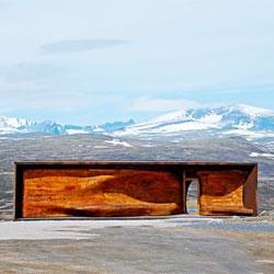The Tverrfjellhytta Pavilion by Norwegian firm Snøhetta in the stunning Dovrefjell National Park.