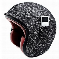 After the Martin Margiela and Eley Kishimoto helmet collaborations its now turn for Karl Lagerfeld to design a Tweed Helmet for Atelier Ruby. Interesting bikers accessory with a pocket for your Ipod.