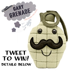 "NOTCOT-TWEET-A-WAY!!! Win Gary Grenade who is ""Exploding For Good"" ~ by tweeting @NOTCOT with your best pick up line ~ bonus points for creativity of course. Winner will be D messaged tonight so make sure you're following @NOTCOT. [ENDED!]"