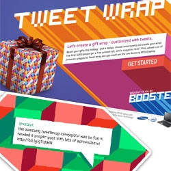 Tweet Wrap - Free Twitter Wrapping Paper ~ from your tweets to the printer to your house ~ fun holiday cheer spread by Samsung Boost ~ fun UI and pattern choices too!