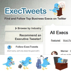 "Twitter-Aggregators are all the rage these days ~ and our friends at FM have just launched ExecTweets ~ How cute are the ""Executive birds""?"