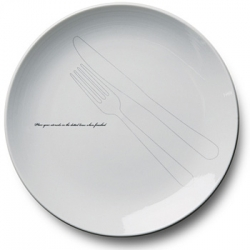 Very clever Twenty Past Four plates designed by Willie Tsang, that reinforce the importance of proper table manners.