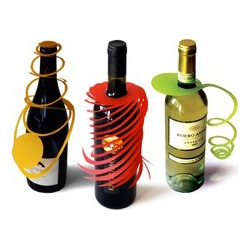 weinhüllen - make a gift of a bottle - paper wine bottle decoration!