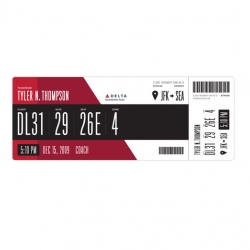 Why do boarding passes have to be ugly? Squarespace Creative director, Tyler Thompson, did a great redesign of a Delta boarding pass.