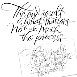 The Art of Hand Lettering ~ lovely example about the digital hand letter process... and how it's the end product that matters