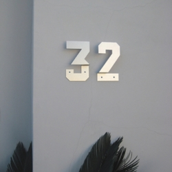 House numbers by type designer Andrew Byrom