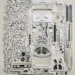 Todd McLellan's deconstructed typewriter is part of his new Disassembly project.