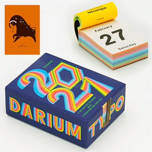 Typodarium 2021 Calendar - a different font for every day