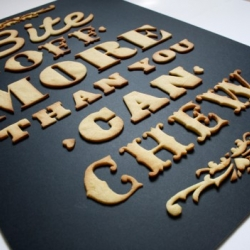 After moss graffiti, the british artist Anna Garforth aka Sporeborne created some typographic biscuit.