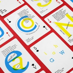 A great typography project from Moscow based designer, Anastasia Musaeva, that is a set of playing cards celebrating the awesomeness of fonts.