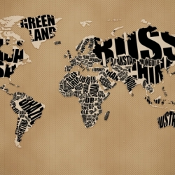 A wonderful typographic world map by russian designer Vlad Gerasimov. Also available as a Desktop Wallpaper.