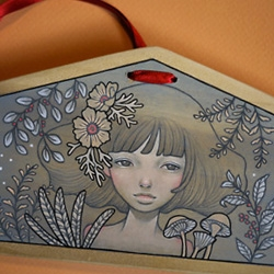 Harmony Gong's Ema for 'Artists Help Japan' Give2Asia Auction on eBay. Artists include Audrey Kawasaki, Yoskay Yamamoto, Allison Sommers and many more talented peeps!