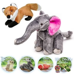 Fluff & Tuff Dog Toys - the cutest, strongest dog toys we've found yet. And they come in fun creatures from elephants and foxes, to trout, koi, penguins, gators, and more.